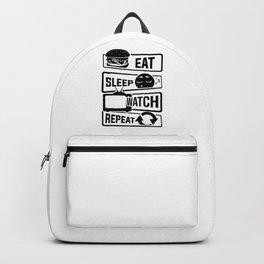 Eat Sleep Watch Repeat - TV Series Couch Binge Backpack
