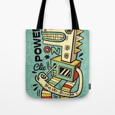 Power on - blue Tote Bag