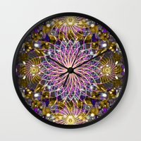 sparkle Wall Clocks featuring Sparkle by Angelo Cerantola