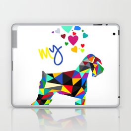 I love my schnauzer (not cropped ears) white Laptop & iPad Skin