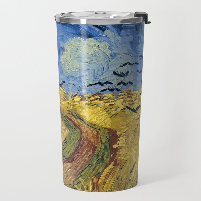 Wheatfield with Crows by Vincent van Gogh Travel Mug