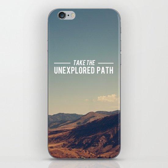 Take The Unexplored Path iPhone & iPod Skin