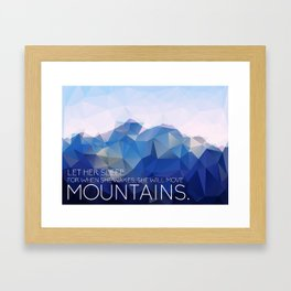Mountains: Let Her Sleep Framed Art Print