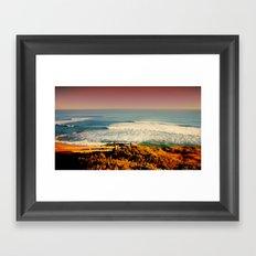 Sunset over the Southern Ocean Framed Art Print