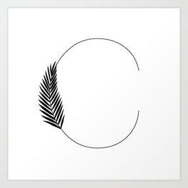 Palm C Art Print