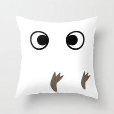 White Troll ~ My Neighbor Troll Throw Pillow