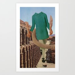 out for a stroll Art Print
