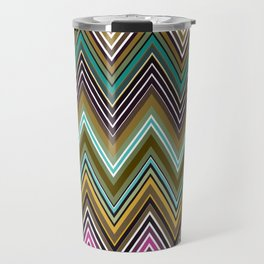 Zigzag Ultra Thin Lines Crochet  Pattern Travel Mug