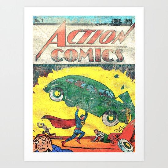 Superman Nº1 Art Print
