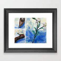 Flowers and shoe  Framed Art Print