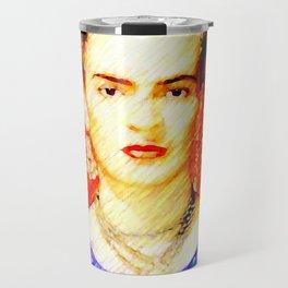 Looking for Frida Kahlo... Travel Mug