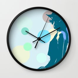 Clipart girl Wall Clock
