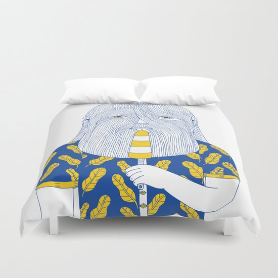Autumn in Your Face Duvet Cover