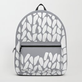 Half Knit Grey Backpack