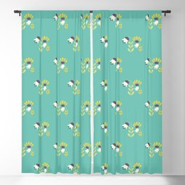 Spring Tulips Blackout Curtain