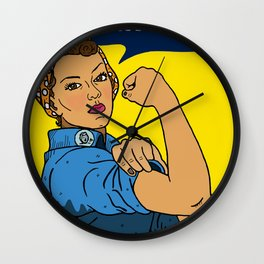 Latina Rosie The Riveter Wall Clock