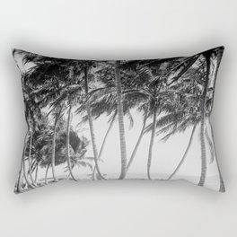 Miami Florida Palm Trees Black and White Vintage Photograph, 1915 Rectangular Pillow