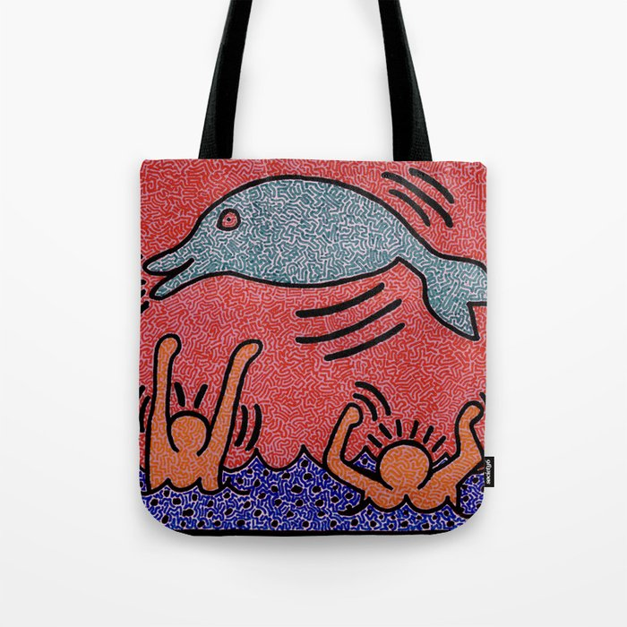 Keith Haring Dolphin Tote Bag