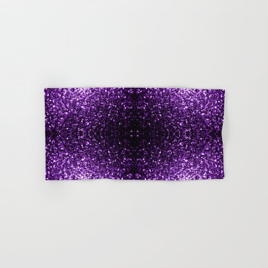 Beautiful Dark Purple glitter sparkles Hand & Bath Towel