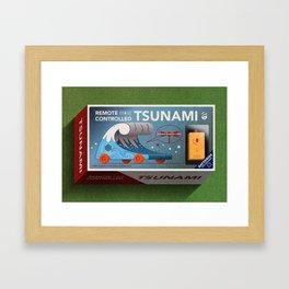 Remote Controlled Tsunami Framed Art Print