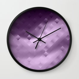 Abstraction. Purple . Wall Clock