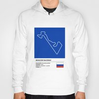 moscow Hoodies featuring Moscow Raceway by MS80 Design
