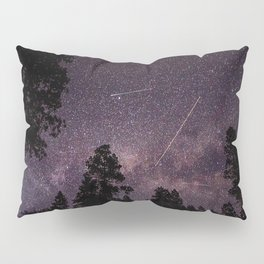 Busy Sky - Shooting Stars, Planes and Satellites in Colorado Night Sky Pillow Sham