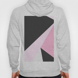 Abstract geometrical pastel pink black triangles Hoody