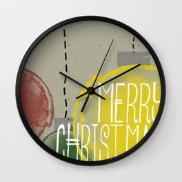 Merry Christmas Ornaments Wall Clock