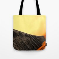 hogwarts Tote Bags featuring To Hogwarts by thejennii