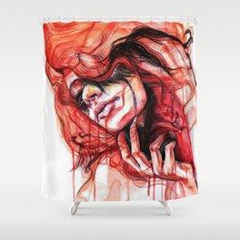 Metamorphosis-cardinal bird Shower Curtain