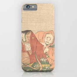 Japanese Art Print - Kitagawa Utamaro - The Poet Sōjō Henjō Slipping a Letter to a Woman (1798) iPhone Case