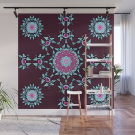 red berry pattern Wall Mural