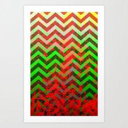 color Spatter set 1 Art Print