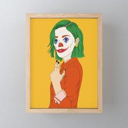 Joker girl - Put on a happy face Framed Mini Art Print