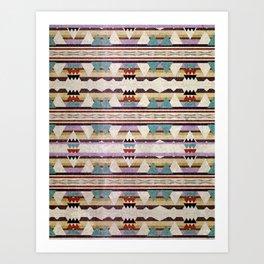 Aztec Mountains Art Print