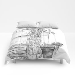 Piazza Drawing Comforters