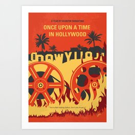 No1120 My Once Upon a Time in Hollywood minimal movie poster Art Print