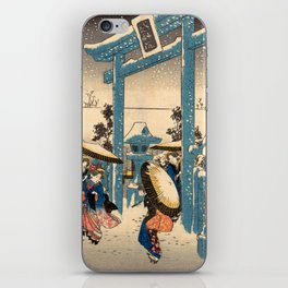 The Gion Shrine in Snow iPhone Skin