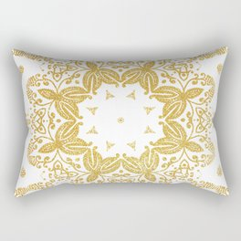 Golden mandala Rectangular Pillow