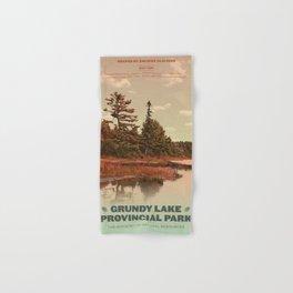 Grundy Lake Provincial Park Poster Hand & Bath Towel