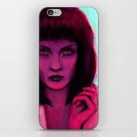 mia wallace iPhone & iPod Skins featuring Mia by Thiago García