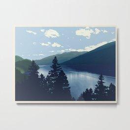 Slocan Lake (no writing) Metal Print