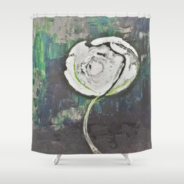 Golden Rose Acrylic Icey Green Mint Chocolate Chip Shower Curtain
