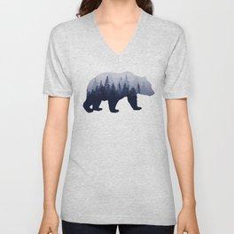 Bear in the Woods Unisex V-Neck