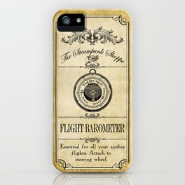 Steampunk Apothecary Shoppe - Barometer iPhone Case