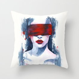 Blind love is  Throw Pillow