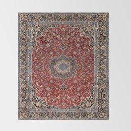 N63 - Red Heritage Oriental Traditional Moroccan Style Artwork Throw Blanket
