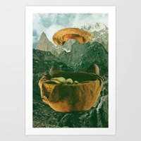 mother Art Prints featuring mother by Jesse Treece