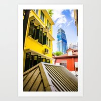 singapore Art Prints featuring Singapore by Jiunn